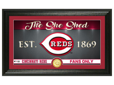 Cincinnati Reds Highland Mint She Shed Panoramic Bronze Coin Photo Mint