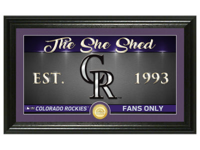 Colorado Rockies Highland Mint She Shed Panoramic Bronze Coin Photo Mint