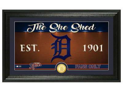 Detroit Tigers Highland Mint She Shed Panoramic Bronze Coin Photo Mint