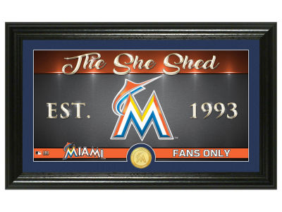 Miami Marlins Highland Mint She Shed Panoramic Bronze Coin Photo Mint
