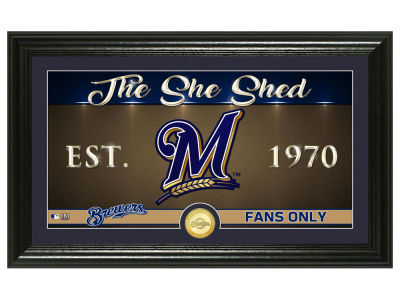 Milwaukee Brewers Highland Mint She Shed Panoramic Bronze Coin Photo Mint