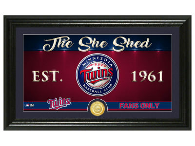 Minnesota Twins Highland Mint She Shed Panoramic Bronze Coin Photo Mint