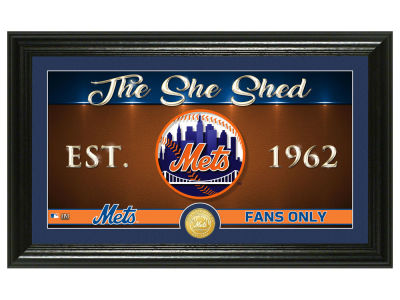 New York Mets Highland Mint She Shed Panoramic Bronze Coin Photo Mint