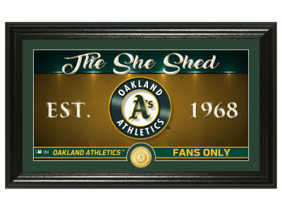 Oakland Athletics Highland Mint She Shed Panoramic Bronze Coin Photo Mint