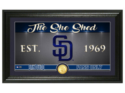 San Diego Padres Highland Mint She Shed Panoramic Bronze Coin Photo Mint