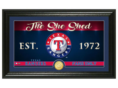 Texas Rangers Highland Mint She Shed Panoramic Bronze Coin Photo Mint
