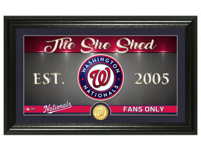 Washington Nationals Highland Mint She Shed Panoramic Bronze Coin Photo Mint