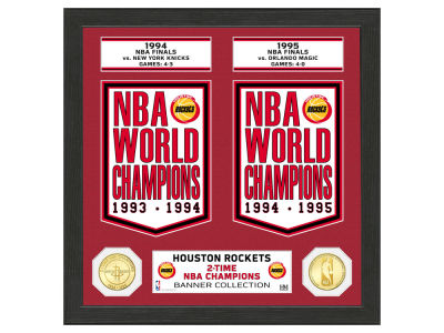 Houston Rockets Highland Mint Banner Bronze Coin Photo Mint