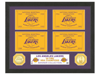 Los Angeles Lakers Highland Mint Banner Bronze Coin Photo Mint
