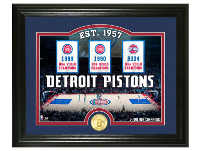 Detroit Pistons Highland Mint Court Minted Coin Photo Mint