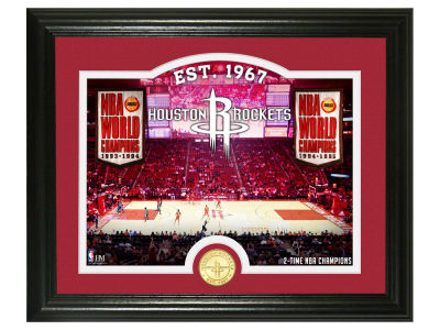 Houston Rockets Highland Mint Court Minted Coin Photo Mint