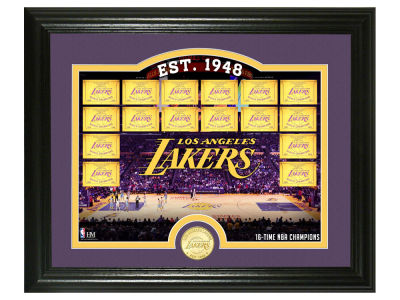 Los Angeles Lakers Highland Mint Court Minted Coin Photo Mint