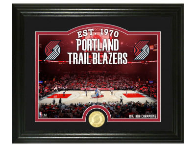 Portland Trail Blazers Highland Mint Court Minted Coin Photo Mint