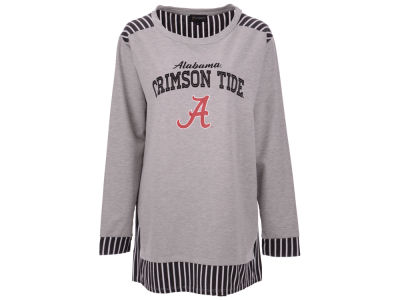 Alabama Crimson Tide Gameday Couture 2018 NCAA Women's Striped Panel Long Sleeve T-Shirt