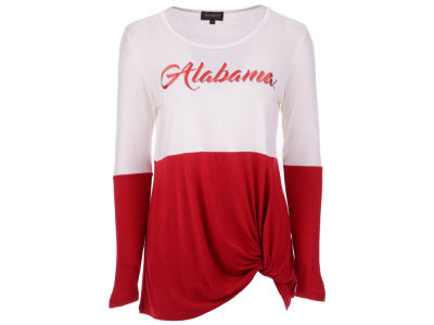 Alabama Crimson Tide Gameday Couture NCAA Women's Colorblock Twist Long Sleeve T-Shirt