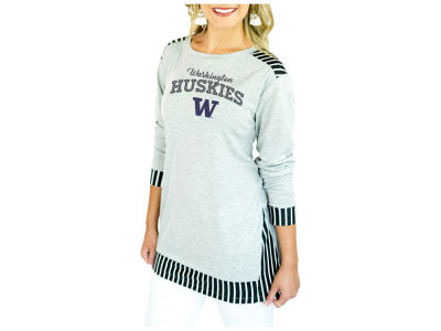 Washington Huskies Gameday Couture 2018 NCAA Women's Striped Panel Long Sleeve T-Shirt