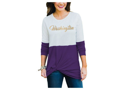 Washington Huskies Gameday Couture NCAA Women's Colorblock Twist Long Sleeve T-Shirt