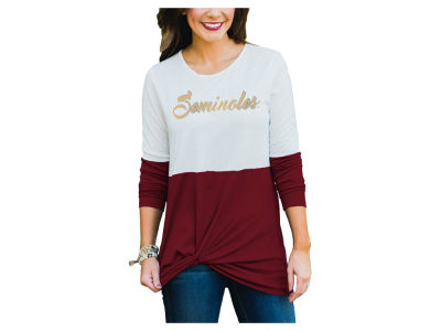 Florida State Seminoles Gameday Couture NCAA Women's Colorblock Twist Long Sleeve T-Shirt