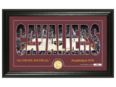Cleveland Cavaliers Highland Mint Silhouette Bronze Coin Photo Mint