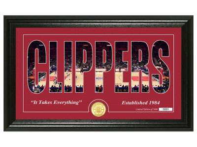 Los Angeles Clippers Highland Mint Silhouette Bronze Coin Photo Mint