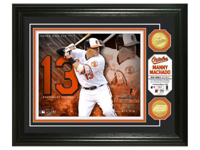 Baltimore Orioles Manny Machado Highland Mint Bronze Coin Photo Mint