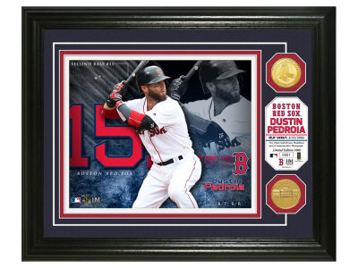 Boston Red Sox Dustin Pedroia Highland Mint Bronze Coin Photo Mint