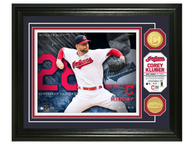 Cleveland Indians Corey Kluber Highland Mint Bronze Coin Photo Mint