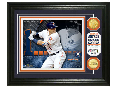 Houston Astros Carlos Correa Highland Mint Bronze Coin Photo Mint