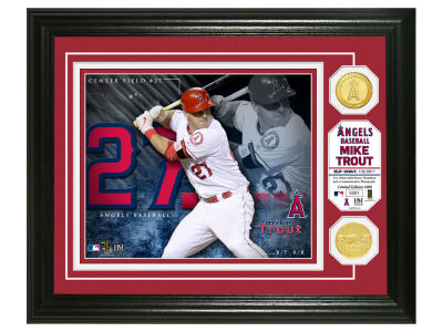 Los Angeles Angels Mike Trout Highland Mint Bronze Coin Photo Mint