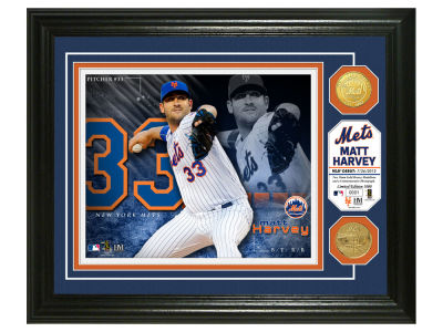 New York Mets Matt Harvey Highland Mint Bronze Coin Photo Mint