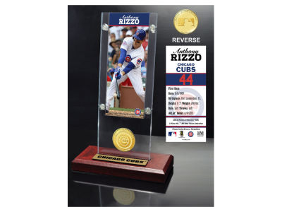 Chicago Cubs Anthony Rizzo Highland Mint Ticket & Bronze Coin Acrylic Desk Top