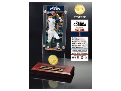 Houston Astros Carlos Correa Highland Mint Ticket & Bronze Coin Acrylic Desk Top