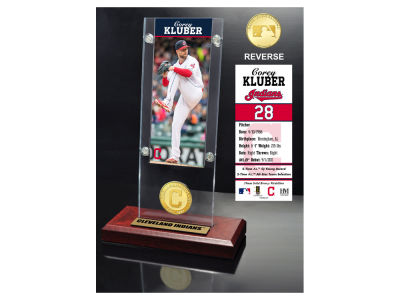 Cleveland Indians Corey Kluber Highland Mint Ticket & Bronze Coin Acrylic Desk Top