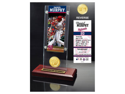 Washington Nationals Daniel Murphy Highland Mint Ticket & Bronze Coin Acrylic Desk Top