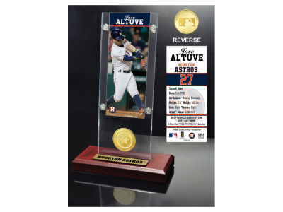 Houston Astros Jose Altuve Highland Mint Ticket & Bronze Coin Acrylic Desk Top