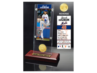 New York Mets Jacob DeGrom Highland Mint Ticket & Bronze Coin Acrylic Desk Top