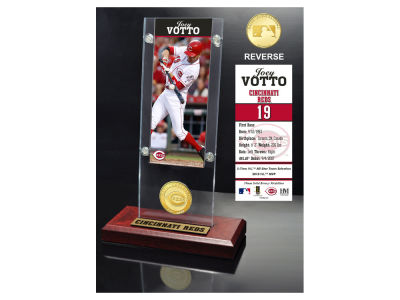 Cincinnati Reds Joey Votto Highland Mint Ticket & Bronze Coin Acrylic Desk Top