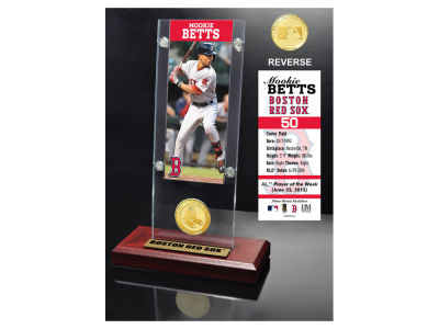 Boston Red Sox Mookie Betts Highland Mint Ticket & Bronze Coin Acrylic Desk Top