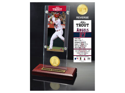Los Angeles Angels Mike Trout Highland Mint Ticket & Bronze Coin Acrylic Desk Top