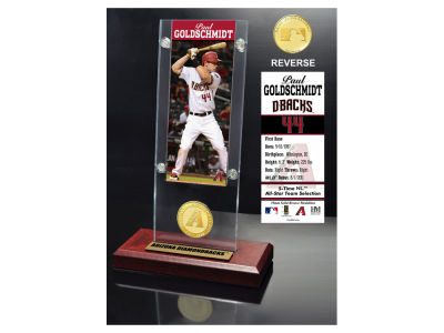 Arizona Diamondbacks Paul Goldschmidt Highland Mint Ticket & Bronze Coin Acrylic Desk Top