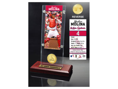 St. Louis Cardinals Yadier Molina Highland Mint Ticket & Bronze Coin Acrylic Desk Top
