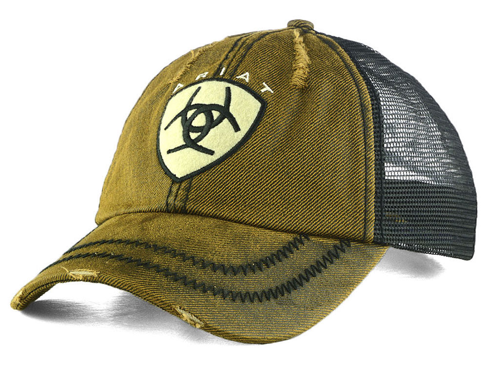 reputable site cee19 293a4 ... where to buy ariat oilskin trucker hat 8059c 264be