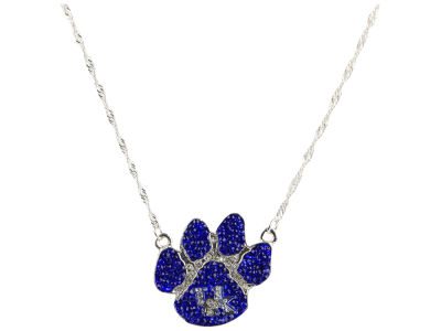 Kentucky Wildcats Crystal Paw Necklace