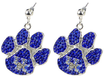 Kentucky Wildcats Crystal Paw Earring