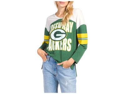 7252463ce Green Bay Packers Junk Food NFL Women s Liberty Throwback Raglan T-Shirt