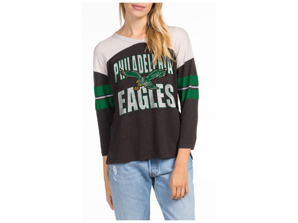 Philadelphia Eagles Junk Food NFL Women s Liberty Throwback Raglan T-Shirt   2c4d564c17