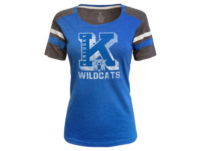 Kentucky Wildcats Top of the World NCAA Women's Tri-blend Sleeve Stripe T-Shirt