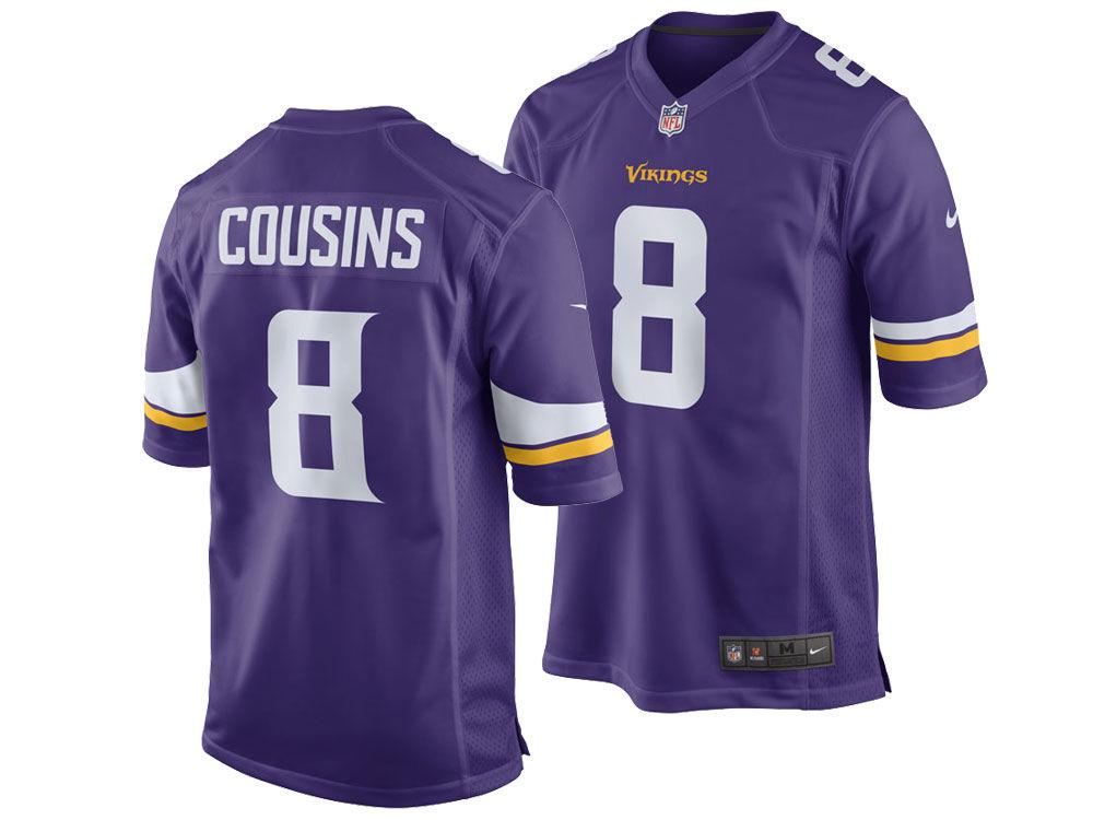 3af30cdbd Minnesota Vikings Kirk Cousins Nike NFL Youth Game Jersey