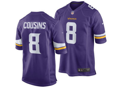 Minnesota Vikings Kirk Cousins Nike NFL Youth Game Jersey