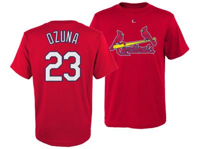 St. Louis Cardinals Marcell Ozuna Majestic MLB Kids Official Player T-Shirt